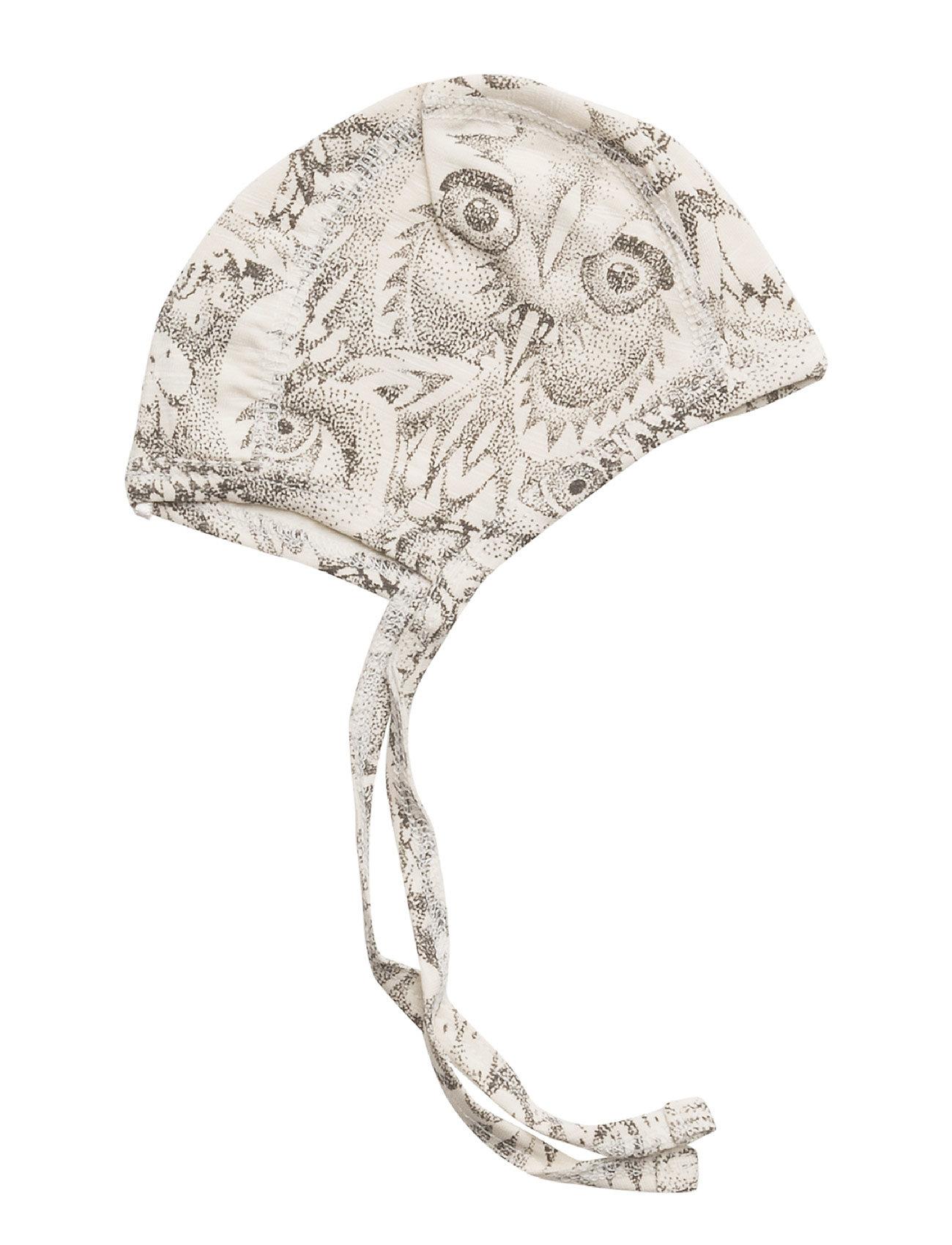 Soft Gallery - Hattie - hatte og handsker - cream, aop owl - 0