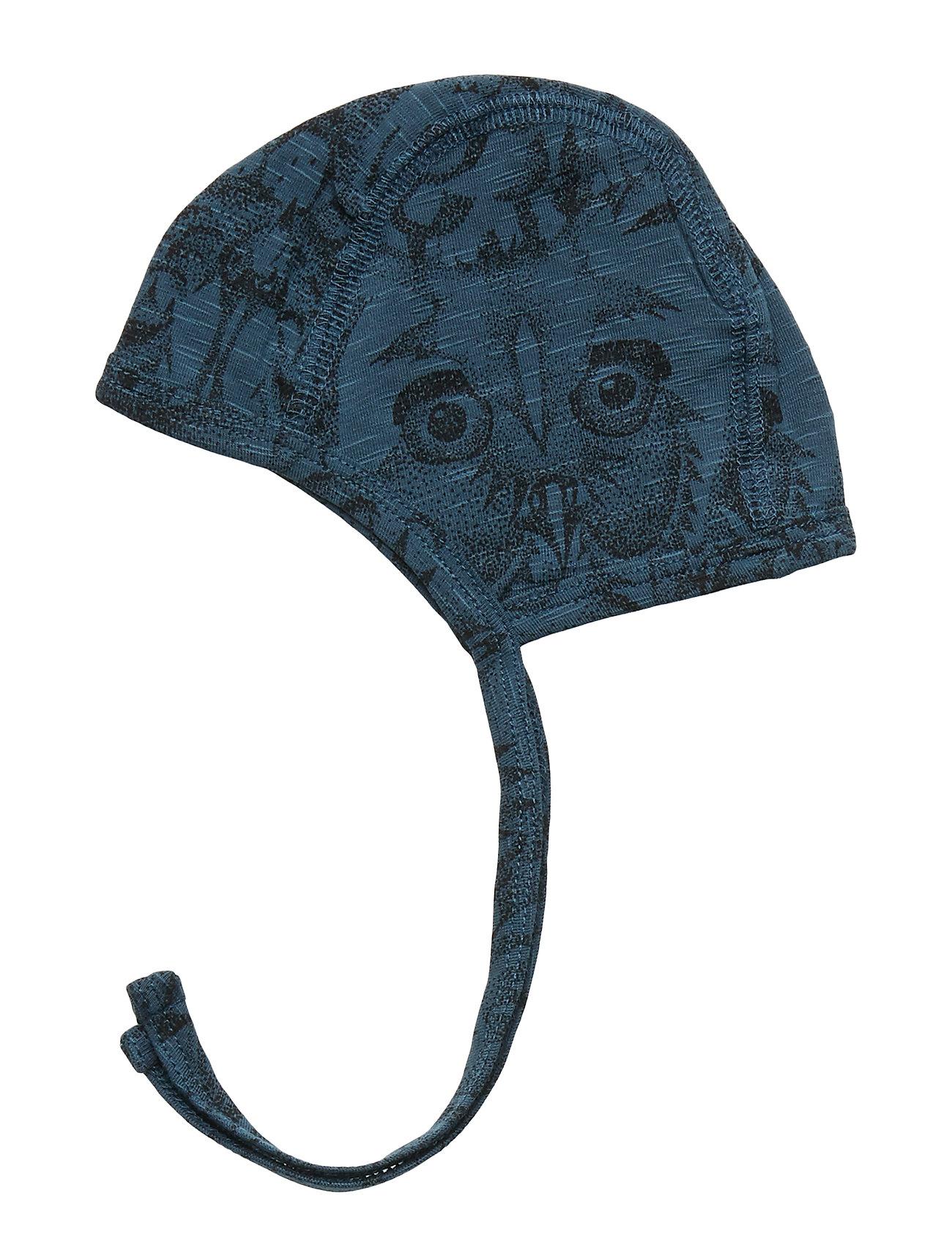 Soft Gallery - Hattie - hatte og handsker - orion blue, aop owl - 1