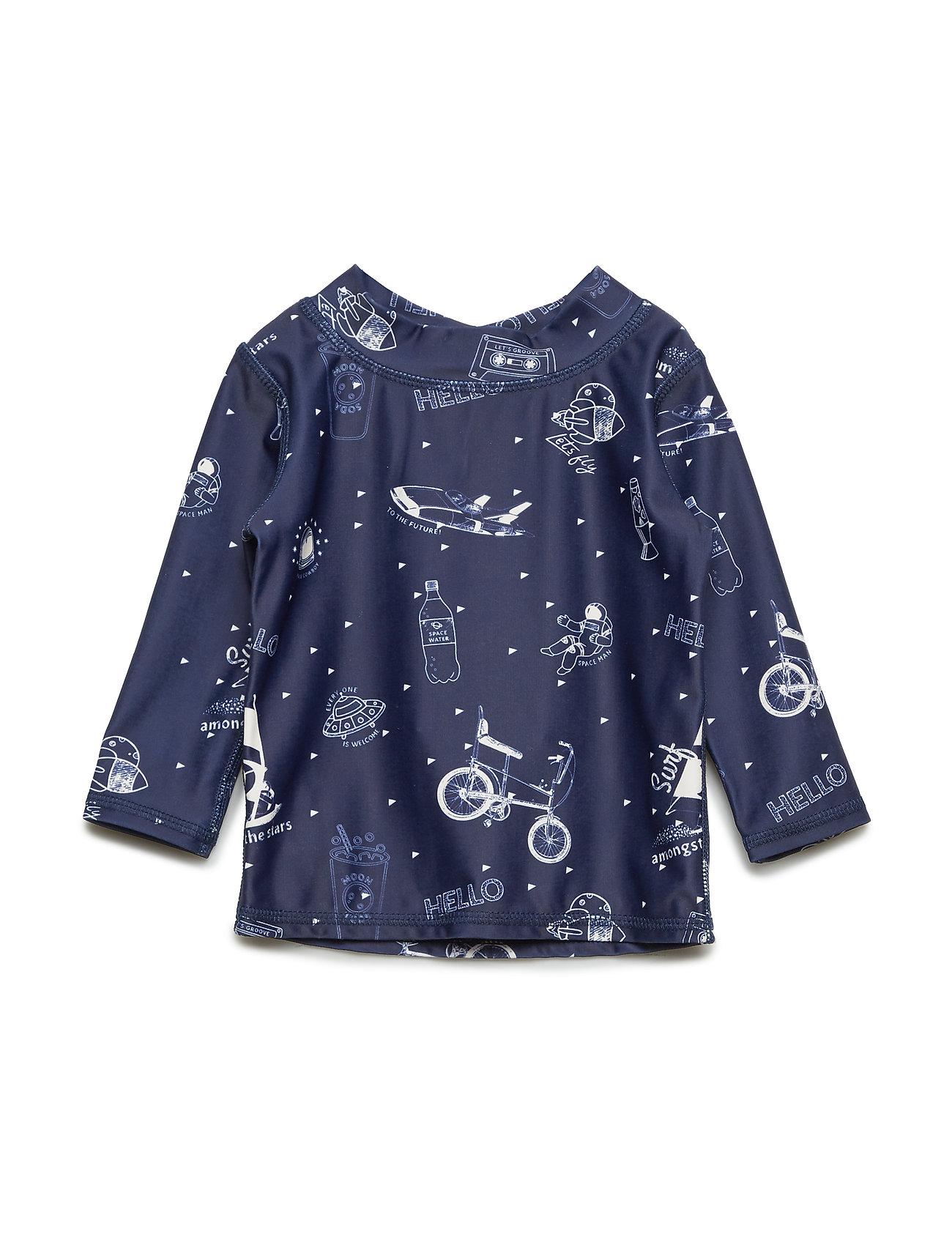 Soft Gallery Baby Astin Sun Shirt - DRESS BLUES, AOP STARSURFER SWIM