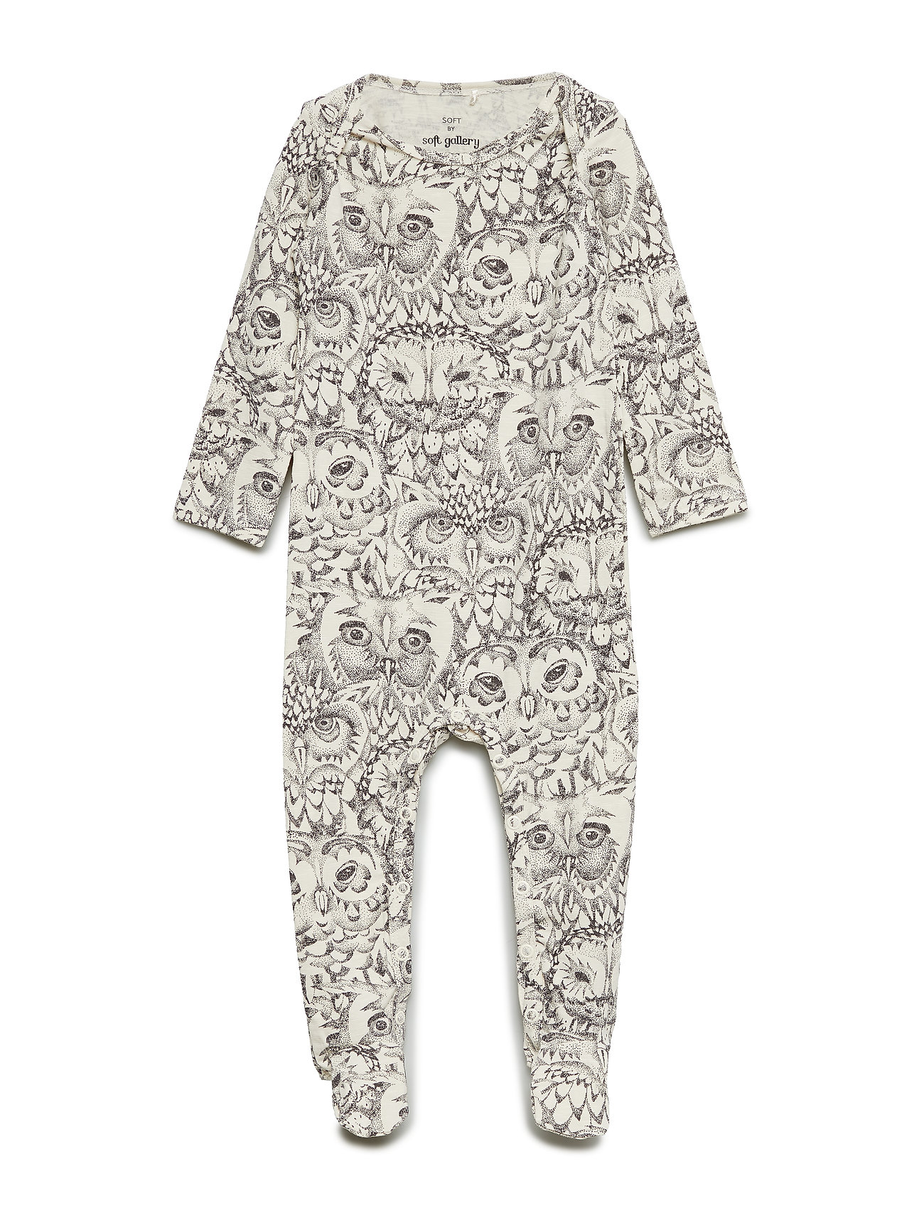 Soft Gallery Nat Bodysuit - CREAM, AOP OWL