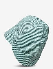 Soft Gallery - Huxi Hat - solhat - gardenia, aop seersucker stripe - 1