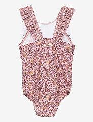 Soft Gallery - Baby Ana Swimsuit - swimsuits - misty rose, aop flower swim - 1