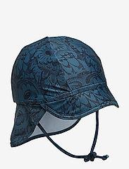 Soft Gallery - Alex Sun Hat - czapka uv - orion blue, aop owl - 0