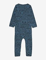 Soft Gallery - SGBen Bodysuit - NOOS - langärmelig - orion blue, aop owl - 2