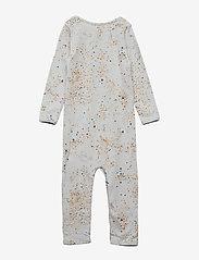Soft Gallery - Ben Bodysuit - langärmelig - ocean grey, aop mini splash blue - 1