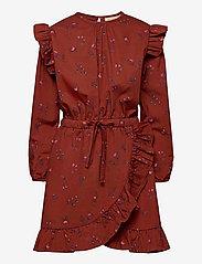 Soft Gallery - Ea Dress - kleider - red ochre, aop cloudberry - 0