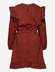 Soft Gallery - Ea Dress - kleider - red ochre, aop cloudberry - 1