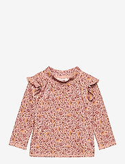 Soft Gallery - Baby Fee Sun Shirt - koszulki - misty rose, aop flower swim - 0