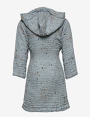 Soft Gallery - Robe - bathrobes - ocean grey, aop mini splash blue - 1