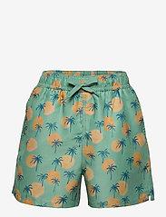 Soft Gallery - Dandy Swim Pants - badehosen - granite green, aop tropical - 0