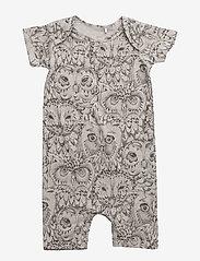 Soft Gallery - Owen Body - krótki rękaw - drizzle, aop owl - 0