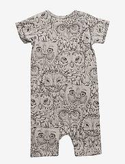 Soft Gallery - Owen Body - krótki rękaw - drizzle, aop owl - 1