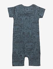 Soft Gallery - Owen Body - kurzärmelig - orion blue, aop owl - 1