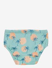 Soft Gallery - Miki Swim Pants - badehosen - granite green, aop tropical - 1