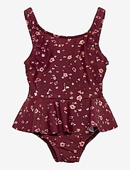 Soft Gallery - Glory Swimsuit - swimsuits - oxblood red, aop flowery s - 0