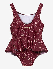 Soft Gallery - Glory Swimsuit - swimsuits - oxblood red, aop flowery s - 1
