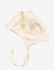 Soft Gallery - Hattie - hatte og handsker - fluffy sky, aop mini splash cream - 1