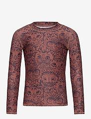 Soft Gallery - Astin Sun Shirt - koszulki - burlwood, aop owl - 0