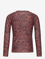 Soft Gallery - Astin Sun Shirt - koszulki - burlwood, aop owl - 1