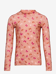 Soft Gallery - Astin Sun Shirt - uv-clothing - shrimp, aop fluttery s - 0
