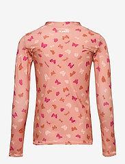 Soft Gallery - Astin Sun Shirt - uv-clothing - shrimp, aop fluttery s - 1