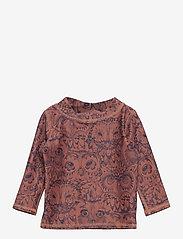 Soft Gallery - Baby Astin Sun Shirt - koszulki - burlwood, aop owl - 0