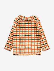 Soft Gallery - Baby Astin Sun Shirt - koszulki - winter wheat, aop check - 0