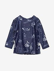 Soft Gallery - Baby Astin Sun Shirt - koszulki - dress blues, aop starsurfer swim - 0