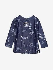 Soft Gallery - Baby Astin Sun Shirt - koszulki - dress blues, aop starsurfer swim - 1