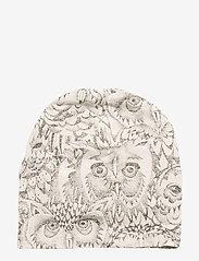 Soft Gallery - Beanie - hatte og handsker - cream, aop owl - 1