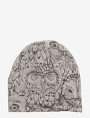 Soft Gallery - Beanie - hatte og handsker - drizzle, aop owl - 0