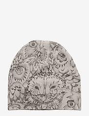 Soft Gallery - Beanie - hatte og handsker - drizzle, aop owl - 1