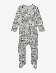 Soft Gallery - Nat Bodysuit - langärmelig - drizzle, aop owl - 0