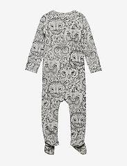 Soft Gallery - Nat Bodysuit - langärmelig - drizzle, aop owl - 2