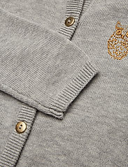Soft Gallery - Carrie Cardigan - gilets - grey melange, mini owl emb - 2