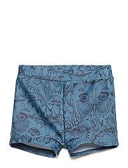 Soft Gallery - Don Swim Trunk - badehosen - orion blue, aop owl - 0