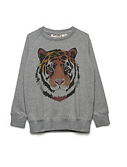 Chaz Light Sweatshirt - GREY MELANGE, TIGERART