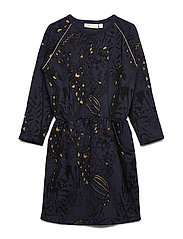 Janel Dress - OUTER SPACE, AOP WINGS