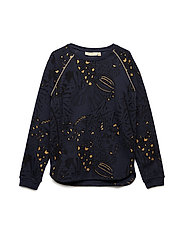 Signe Sweatshirt - OUTER SPACE, AOP WINGS