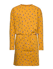 Vigdis Dress - INCA GOLD, AOP FLOWERBEE SMALL