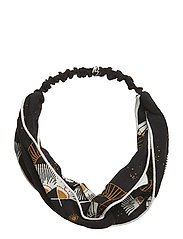 Wrap Hairband - JET BLACK, AOP SENSU