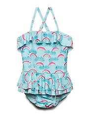 Soft Gallery Shirley Swimsuit - BLUE TINT, AOP RAINBOW