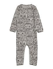 Soft Gallery Ben Bodysuit - DRIZZLE, AOP OWL