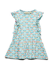 Soft Gallery Alberte Dress - BLUE TINT, AOP RAINBOW