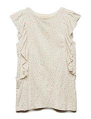 Aylin T-shirt - GARDENIA, AOP DRIZZLE