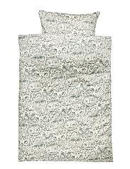 Bed Linen Adult - CREAM, AOP OWL GREEN
