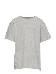Asger T-shirt - GREY MELANGE, MINI OWL EMB.