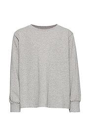 Benson T-shirt - GREY MELANGE, MINI OWL EMB.