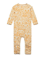 Ben Bodysuit - CREAM, AOP OWL GOLDEN GLOW
