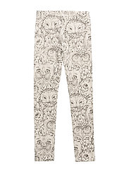 Soft Gallery Paula Junior Leggings - CREAM, AOP OWL